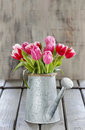 Bouquet Of Pink And Red Tulips Stock Photography - 39412752