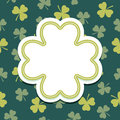 St Patricks Day Card With Shamrock Text Frame Royalty Free Stock Photo - 39435735