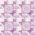 Patchwork Seamless Lacy Retro Pink Floral Pattern Stock Photo - 39442190