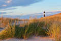 Big Sable Point Lighthouse And Dune Grass. Michiga Stock Images - 39469874