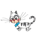 Cartoon Baby Vector Cat In A Naif Childish Drawing Style Royalty Free Stock Photos - 39471598