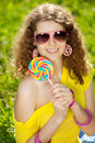 Happiness Young Woman At A Picnic In The Park Stock Image - 39476591