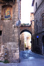 Religious Mural And Romantic Alley, Perugia, Italy Stock Photography - 39485852