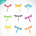 Vector Group Of Colorful Dragonfly Royalty Free Stock Images - 39488219
