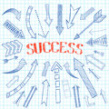 Success Arrows Icon Sketch Royalty Free Stock Photography - 39489617