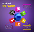 Cubes And 3d Sphere Infographic Royalty Free Stock Images - 39491859