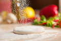 Dough For Italian Pizza Preparation Royalty Free Stock Images - 39499139