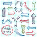 Arrows Icon Set Sketch Royalty Free Stock Photo - 39503205