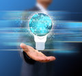 Hand Holding  Light Bulb  Business Royalty Free Stock Photos - 39513518