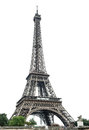 Eiffel Tower Over White Background Royalty Free Stock Photo - 39537925