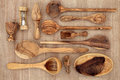 Olive Wood Utensils Royalty Free Stock Image - 39542566