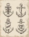 Hand Drawn Anchor Set Stock Photography - 39542572