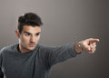 Man Pointing Away Royalty Free Stock Photography - 39549237
