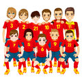 Red Soccer Team Royalty Free Stock Photos - 39549858