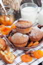 Fresh Homemade Apricot Muffins Stock Images - 39556124