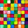 Abstract Rainbow Colorful Tiles Mozaic Painting Geometric Pallette Pattern Background On Wall 5 Stock Images - 39561354