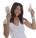Young Woman With Currency Stock Photo - 39568170