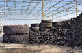Tire Recycling Industry Royalty Free Stock Image - 39569256