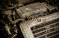 Old Dirty Car Engine Stock Photo - 39573050