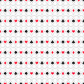Seamless Background Of Card Suits, Hearts, Spades, Clubs, Diamonds Stock Images - 39575444