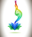 Abstract Colorful Background Book Icon And Wave Stock Photo - 39579820