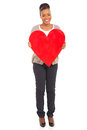 African American Woman Heart Shape Royalty Free Stock Images - 39581529