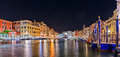 Scenic View Of The Rialto Bridge, Venice At Night Royalty Free Stock Photo - 39582945