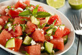 Healthy Organic Watermelon Salad Stock Images - 39608744