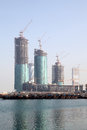 Skyscrapers Construction In Manama Royalty Free Stock Image - 39631726