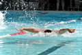 Butterfly Swimmer During A Swim Meet Royalty Free Stock Image - 39639366