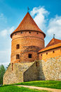 Tower Of Castle. Trakai, Lithuania Royalty Free Stock Photo - 39650905