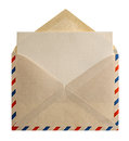 Retro Style Air Mail Envelope Letter Stock Image - 39660401