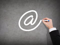 Close Up Of Businessman Drawing E-mail Sign Stock Image - 39667011