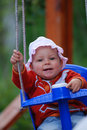 Baby Swinging Royalty Free Stock Images - 3974549