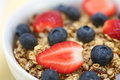 Bowl Of Cereal With Berries Stock Photo - 3974550