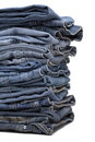 Heap Of Modern Designer Blue Jeans Royalty Free Stock Image - 3979286