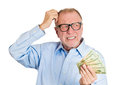 Old Man Not Sure Of Spending Royalty Free Stock Photography - 39703757