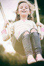 Girl On Swing Stock Images - 39712114