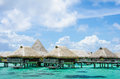 Over Water Bungalow With View Of Amazing Blue Lagoon Stock Photography - 39748652