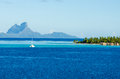 Overwater Bungalow With View Of Amazing Blue Lagoon Stock Photos - 39749443