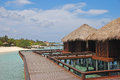 Dream Tropical Island Vacation In Traditional Wooden Overwater Bungalow Royalty Free Stock Photography - 39750757