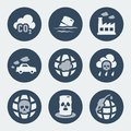 Vector Pollution Icons Set Stock Image - 39760101