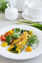Omelet With Spinach Royalty Free Stock Images - 39807249