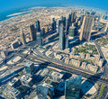 Dubai Downtown. East, United Arab Emirates Architecture. Aerial Royalty Free Stock Photo - 39815445