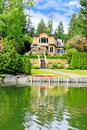 Luxury House With Private Dock Stock Image - 39824661