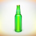 Glass Beer Green Bottle. Product Packing. Royalty Free Stock Photos - 39828208