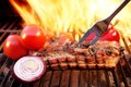 Grill Barbecue Ribs Flames Brisket Charcoal, XXXL Royalty Free Stock Photos - 39829808