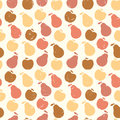 Grunge Retro Vector Seamless Pattern Of Fruit - Apple And Pear Royalty Free Stock Photography - 39832297