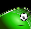 Soccer Ball With Goal And Net Stock Photos - 39839443