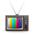 Old Color TV Royalty Free Stock Image - 39840306